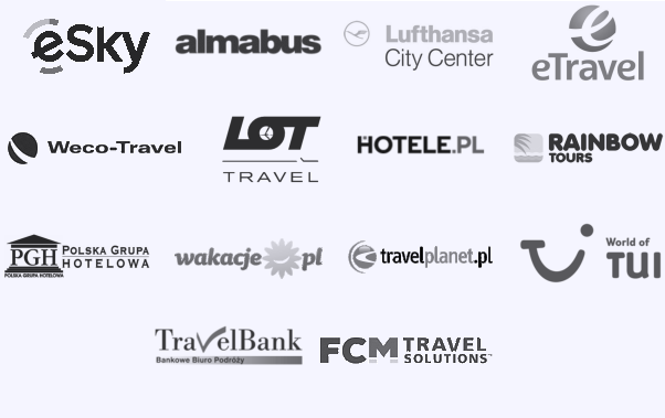 Air Tours Cracow, Almabus, Bis LCC, Club&Travel, First Class, Hotele.pl, INT Travel, Jagielonia, Netmedia, Olimp Air, Polskie Biuro Podróży, Rezerwuje.pl, Almatur, Sigma Travel, Supertour LCC, Travel Bank, Sky Tours, TUI, Why Not FLY, PGH, Rainbow Tours
