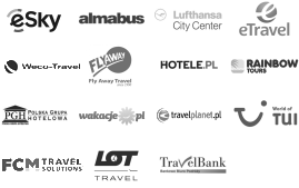 Air Tours Cracow, Almabus, Bis LCC, Club&Travel, First Class, Flay Away Travel, Hotele.pl, INT Travel, Jagielonia, Netmedia, Olimp Air, Polskie Biuro Podróży, Rezerwuje.pl, San Travel, Sigma Travel, Supertour LCC, Travel Bank, Sky Tours, TUI, Why Not FLY, PGH, Rainbow Tours